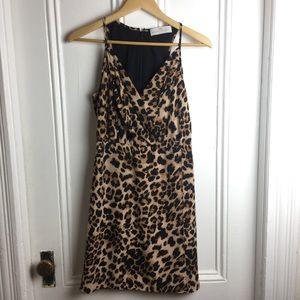 Amanda Uprichard leopard tank mini dress